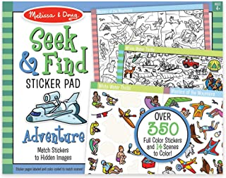 Melissa & Doug Seek and Find Sticker Pad – Adventure (400+ Stickers, 14 Scenes to Color)