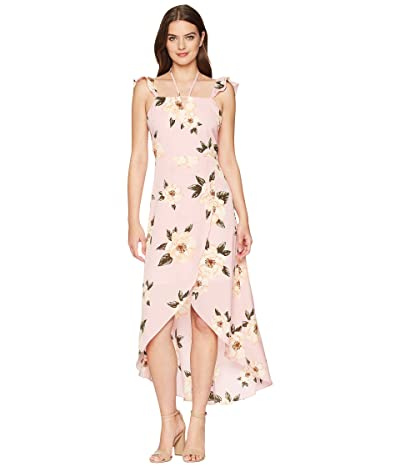 J.O.A. Overlap High-Low Maxi Dress (Rose Floral) Women