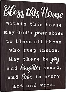 Bless this Home Wall Decor House Blessing Plaque - Housewarming Present for New Home 11x14 Living Room Art or Farmhouse En...