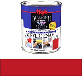 Majic Paints 8-1506-2 Diamond Hard Acrylic Enamel High Gloss Paint, 1- Quart, Safety Red