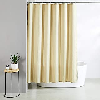 Amazon Brand - Solimo Aurio Polyester Shower Curtain, 72 inch x 79 inch, Beige