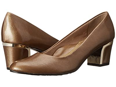 Soft Style Deanna (Gold Cross Hatch Patent/Gold) Women