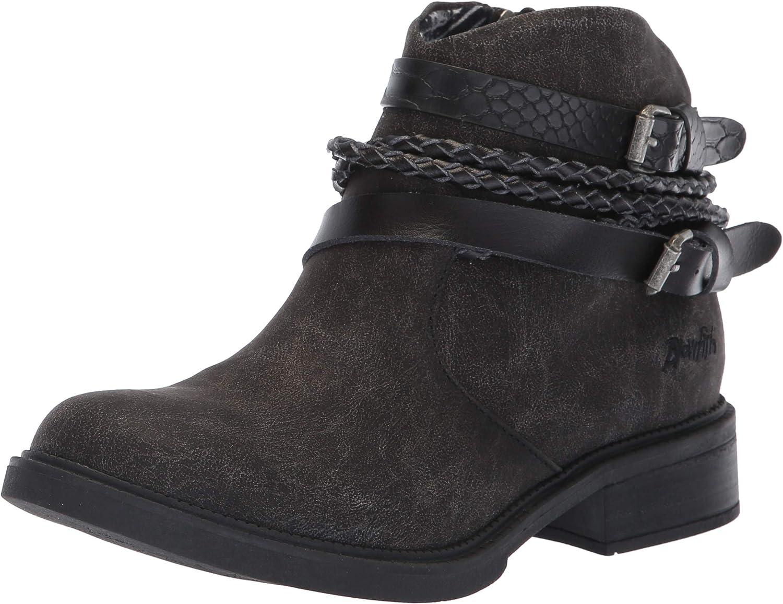 Blowfish Women's Vianna Fashion Boot, Black Spindal Polyurethane, 6 Medium US