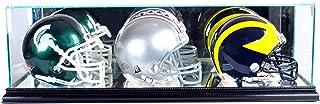 Perfect Cases NFL Triple Mini Football Helmet Glass Display Case