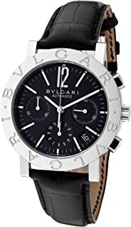 Men's Bulgari Bulgari Mechanical/Automatic Chronograph Black Dial Black Crocodile