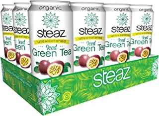 Steaz Unsweetened Iced Green Tea,, 16 OZ (Unsweetened Passionfruit)