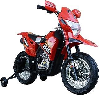 HOMCOM Moto Eléctrica Correpasillos Infantil Coche Triciclo