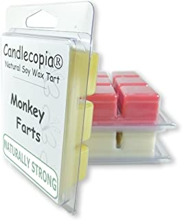Candlecopia Monkey Farts, Butt Naked and Bite Me Strongly Scented Hand Poured Vegan Wax Melts, 18 Scented Wax Cubes, 9.6 Ounces in 3 x 6-Packs