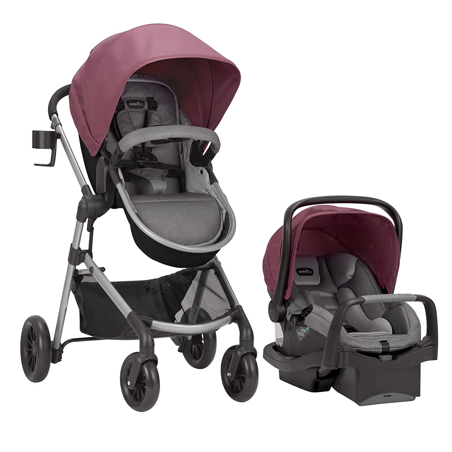 Evenflo Pivot Year-end annual account Modular Travel System Complete Free Shipping SafeMax With Car Seat