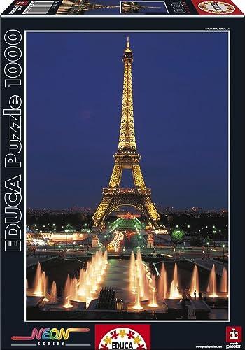 Educa - 10114 - Puzzle Classique - Néon Tour Eiffel - Paris