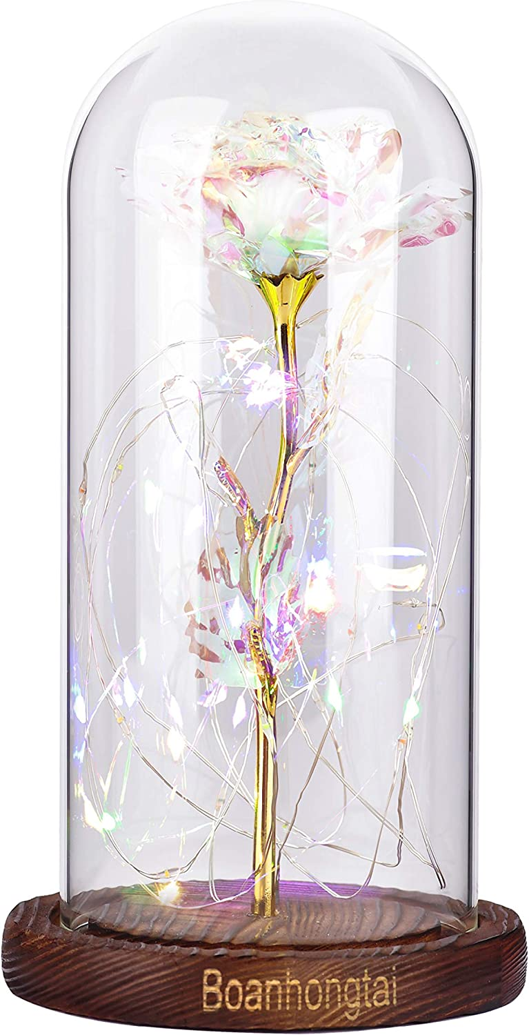 Boanhongtai Bargain Colorful Artificial Flowers Soldering Galaxy L Rose Gift with
