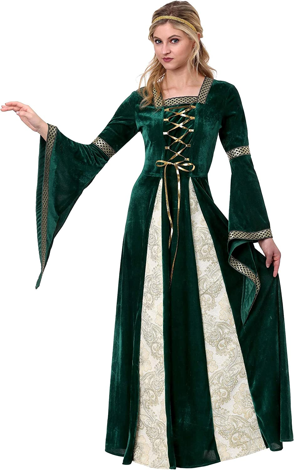 Women's Renaissance Maiden Fancy Dress Costume Small