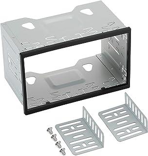Marco de metal para radio de coche, 2DIN LSLYA Kit de Montaje Universal de Para Radio estéreo de Coche y DVD, 19.8 x 12.8 ...