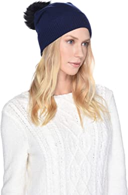 Luxe Knit with Sheepskin Pom Hat