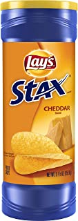 Lay's Stax Cheddar Potato Chips, 155.9g