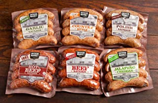 Smoked Sausage Sampler - 6 Different Flavors