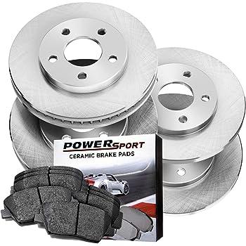 REARS 81127 Power Sport Plain Replacement Brake Rotors and Ceramic Brake Pads Kit