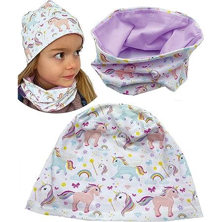 CMTOP Baby M/ütze Loop Schal Set Baumwollm/ütze Weich Kinder Mode Beanie M/ütze Nackenw/ärmer Halsb/änder Halstuch Herbst Winter Cartoon drucken