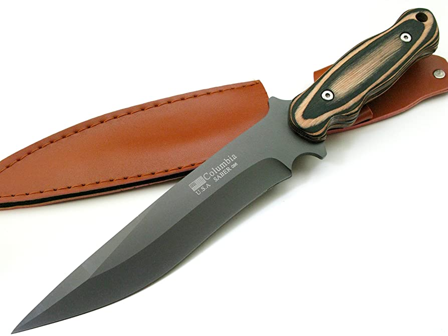 十代の若者たち熱心なビルダーCOLUMBIA KNIFE コロンビアナイフ 高品質シースナイフ フルタング?サバイバルナイフ ウッドハンドル 096 [並行輸入品]