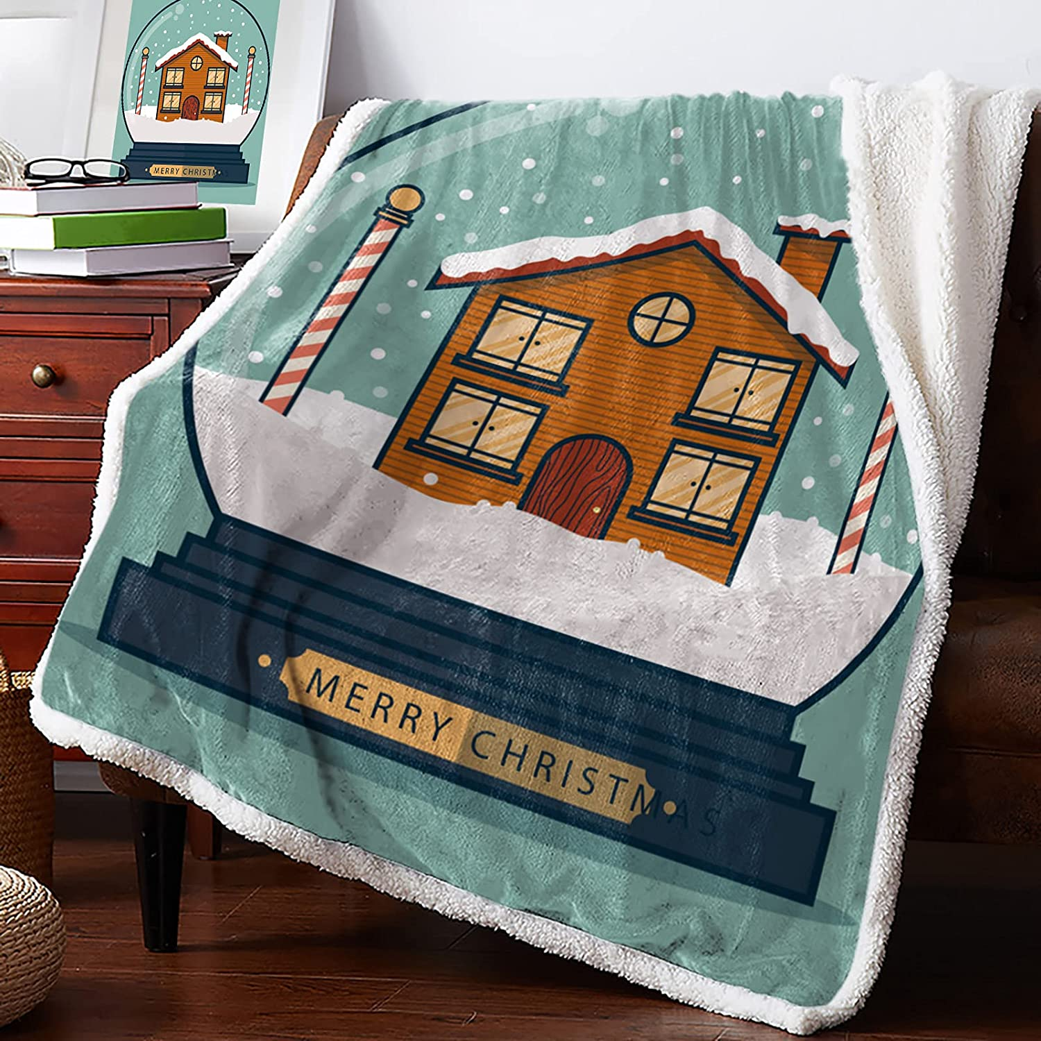 Sherpa Fleece Special sale item Throw Blanket The House Crystal Ball Special sale item in Chr of
