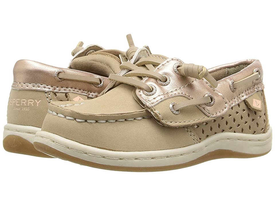Sperry Kids Songfish Jr. (Toddler/Little Kid) (Silver Cloud/Rose Gold) Girl