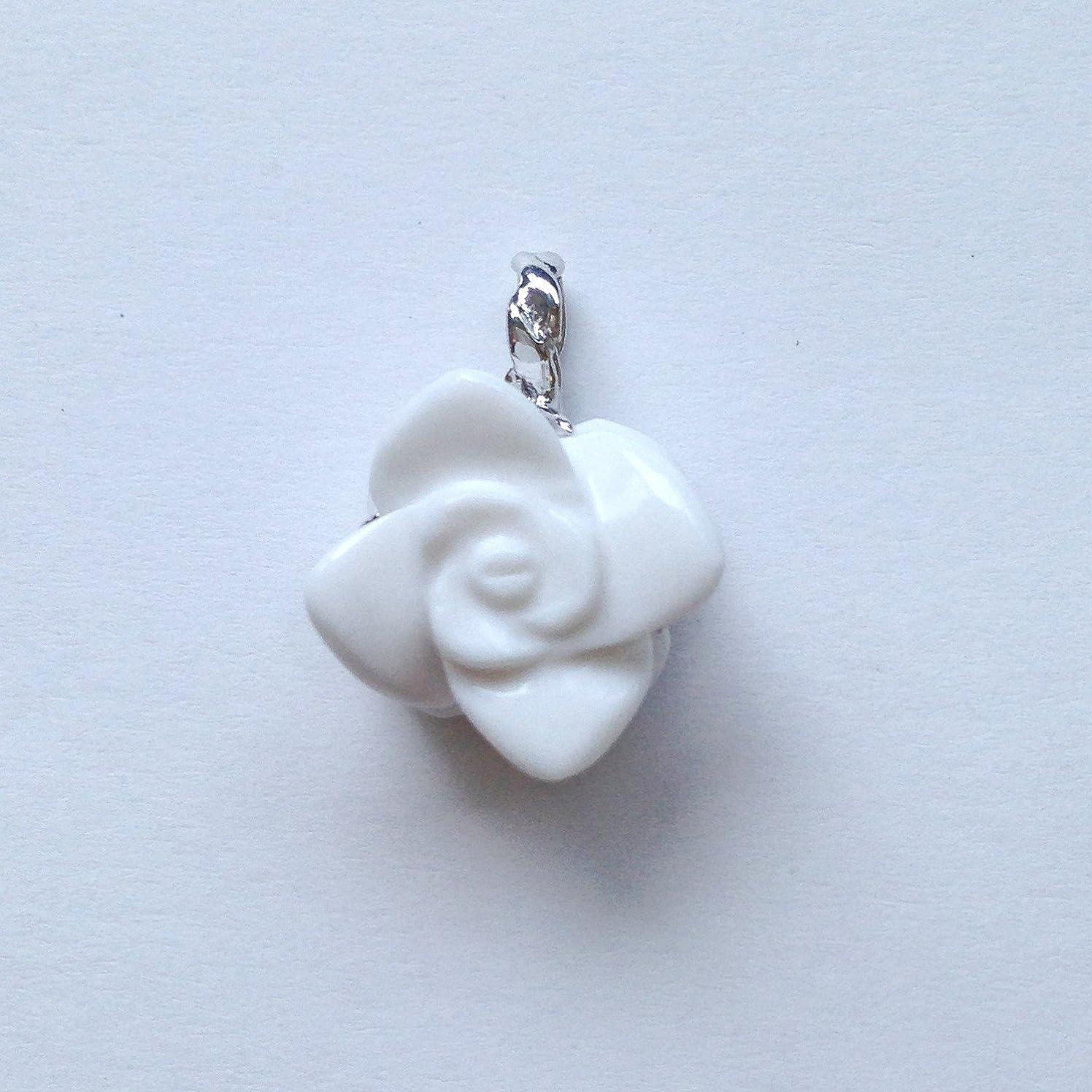 範囲避難するかなりの香る宝石SVホワイトメノウペンダント通常¥26,800の所 (Ag925)
