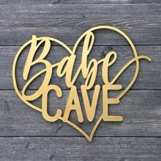 "Homebody Accents  Babe Cave Metal Sign 4/""x12/"" Vintage Retro Wall D/écor"