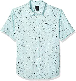 Men's Elegie Floral Short Sleeve Woven Button Front Shirt