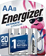 Energizer AA Lithium Batteries, World's Longest Lasting Double A Battery, Ultimate Lithium (8 Battery Count)