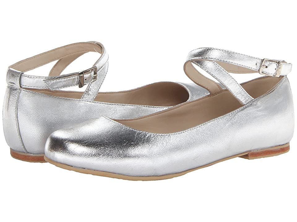 Elephantito French Ballet Flat (Toddler/Little Kid/Big Kid) (Silver) Girl
