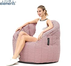 Ambient Lounge® Butterfly Sofa Premium Outdoor Bean Bag in Raspberry Polo UV Grade AA+ Fabric (Includes Filling). Waterpro...