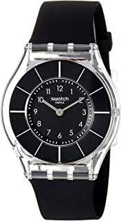Women's 'Classiness' Quartz Plastic and Silicone Watch, Color:Black (Model: SFK361)