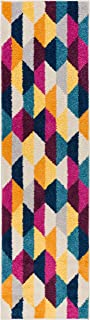 HomeWay Pattern Rugs - Mid-Century Modern Area Rug Multicolor 2' x 7'3