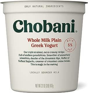 Chobani Whole Milk Greek Yogurt, Plain 32oz