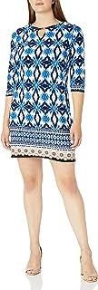فستان حريمي من Sandra Darren قطعة واحدة 3/4 كم مطبوع عليه Ity Shift