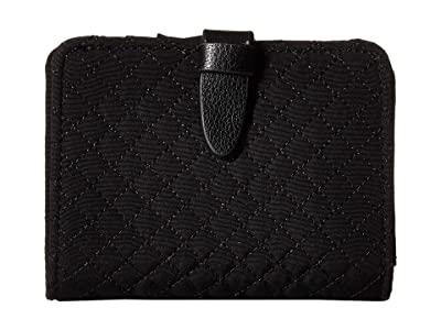 Vera Bradley Iconic RFID Small Wallet (Classic Black) Wallet Handbags
