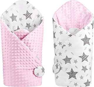 Baby Cocoon Swaddle Receiving Blanket Double-Sided (Pink,...