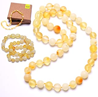 AMBER NECKLACE Natural BALTIC Amber Round Beads Ladies Jewelry Gift 8g 12599