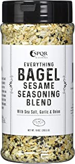 Everything Bagel Seasoning Blend Original XL 10 Ounce Jar. Delicious Blend of Sea Salt and Spices Dried Minced Garlic & Onion Flakes. Bagel Allspice, Sesame Seasoning Spice Shaker.