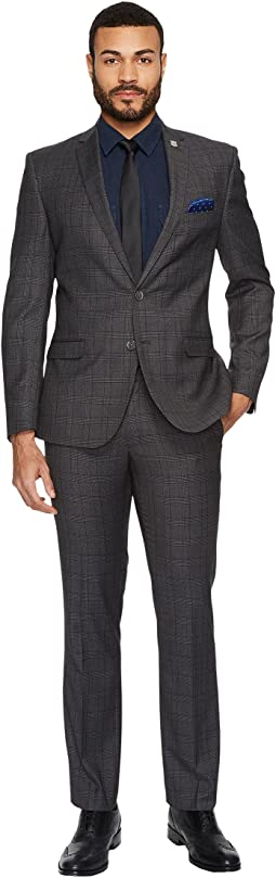 Two-Button Tonal Plaid Suit