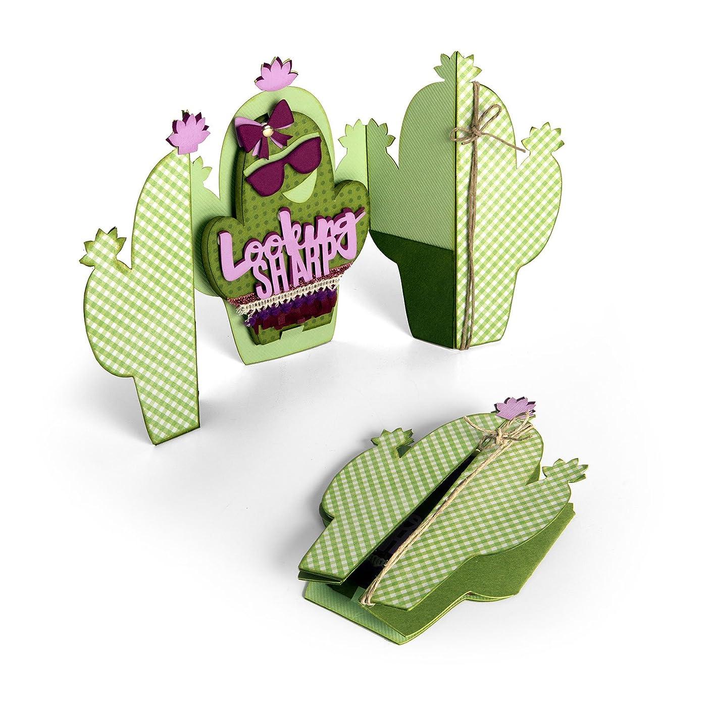 Sizzix Die Card Fold Cactus JL Thinlits DieCardFold-A-Long
