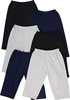 ToBeInStyle Boy's 4-Pack Casual Capri Pants Relaxed Fit