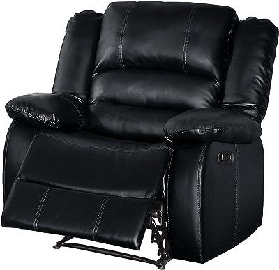 Homelegance HO-8329BLK-1 Reclining Chair, Black