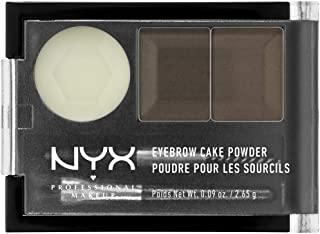 NYX Professional Makeup Eyebrow Cake Powder, Dark Brown/Brown 02