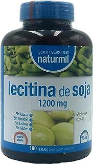 comprar comparacion LECITINA DE SOJA 1200 MG IP 180 PERLAS NATURMIL, no GMO, , sin gluten, sin almidón, sin azúcar, sin lactosa, primera calid...