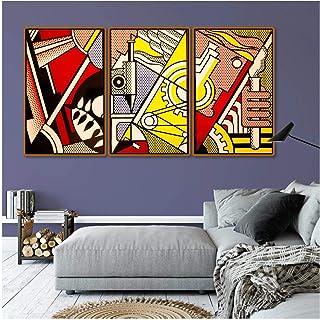 Vscdye Roy Lichtenstein Abstrait Pop Art Toile Impression Affiche Vintage Classique Mur ArtPépinière Enfants Chambre Dé...