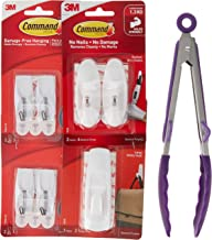 Command 17088 Essential Hooks Value Pack bundled with FREE Elevated Tongs