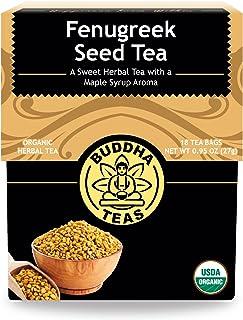 Buddha Teas Organic Fenugreek Seed Tea   18 Bleach-Free Tea Bags   Rich Earthy Taste   Natural Source of Vitamins Minerals...