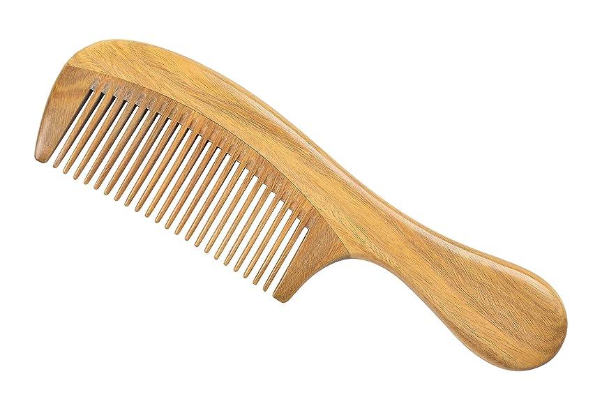 苦行死の顎終了しましたLWBTOSEE 櫛 ウッドコーム ファインティース ウッドコーム グリーンサンダルウッド アンチスタティック 女性 男性 女の子 ヘアコーム 太くて 波打ち 波打つ髪