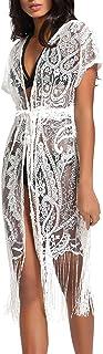 Best Summer Womens Beach Wear Cover up Swimwear Bikini Lace Floral Long Maxi Beach Dress Reviews